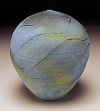 Blue Green Wrap by Nicholas Bernard (Ceramic Vessel)