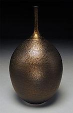 Golden Bottle by Nicholas Bernard (Ceramic Vessel)