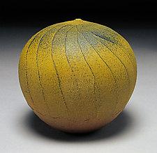 Avocado Facet by Nicholas Bernard (Ceramic Vases & Vessels)