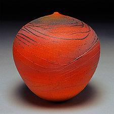 Sunset  Wave by Nicholas Bernard (Ceramic Vase)
