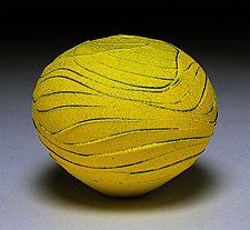 Yellow Wave II by Nicholas Bernard (Ceramic Vase)