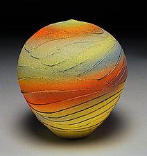 Yellow Topography by Nicholas Bernard (Ceramic Vessel)