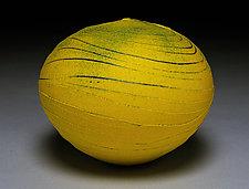 Yellow Wave III by Nicholas Bernard (Ceramic Vessel)