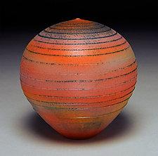 Sunset Spiral III by Nicholas Bernard (Ceramic Vessel)