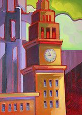 Wrigley Building II by Jason Watts (Oil Painting)