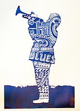 Chicago Trumpet by Jason Watts (Lithograph Print)