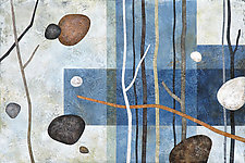Sticks & Stones #65 by Glenys Porter (Acrylic Painting)