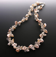 Impressionist Champagne by Sharmen Liao (Pearl & Stone Necklace)