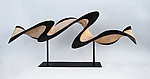 Small Flash on Metal Stand by Kerry Vesper (Wood Sculpture)