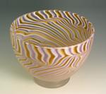 Ecru Bowl by Rene Culler (Art Glass Bowl)