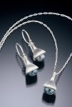 Bell Earrings & Pendant by Kathleen Lynagh (Silver & Pearl Earrings & Pendant)