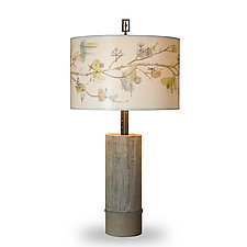 Artful Branch Ceramic Table Lamp by Janna Ugone (Mixed-Media Table Lamp)