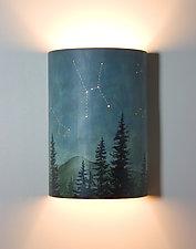 Midnight Sky Ceramic Wall Sconce by Janna Ugone (Ceramic Sconce)