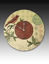 Birdscape Wall Clock by Janna Ugone and Justin Thomas (Mixed-Media Clock)