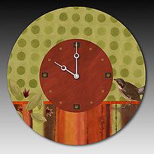Lymon Bird Clock by Janna Ugone and Justin Thomas (Wood Clock)
