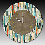Papers Clock by Janna Ugone and Justin Thomas (Mixed-Media Clock)