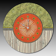 Tang Clock by Janna Ugone and Justin Thomas (Mixed-Media Clock)