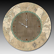 Voyages in Sand Clock by Janna Ugone and Justin Thomas (Mixed-Media Clock)
