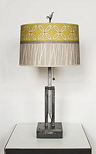 Kiwi Adjustable Height Steel Table Lamp by Janna Ugone (Mixed-Media Table Lamp)