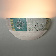 Ceramic Wall Sconce in Modern Meadow by Janna Ugone (Ceramic Sconce)