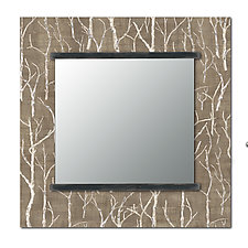 Square Wall Mirror in Twigs by Janna Ugone and Justin Thomas (Wood Mirror)