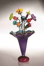 Amazon Vase by Bob Kliss and Laurie Kliss (Art Glass Sculpture)