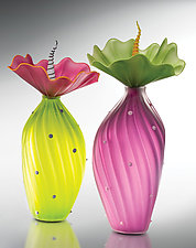 Vibrant BOBtanicals by Bob Kliss and Laurie Kliss (Art Glass Sculpture)