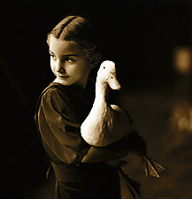 Dorothy & the Duck by Joel Anderson (Black & White Photograph)