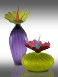 Summer BOBtanical by Bob Kliss and Laurie Kliss (Art Glass Sculpture)