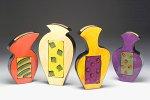 Four Seasons by Diana Crain (Ceramic Wall Sculpture)