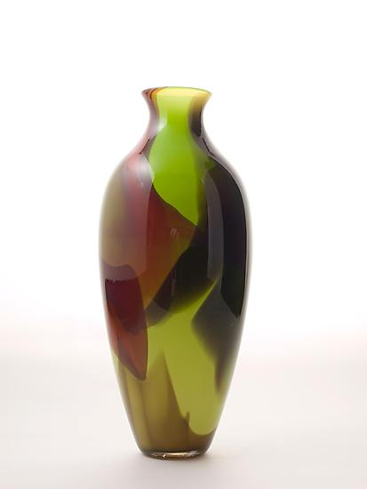 Happy Vase in Green Stretch