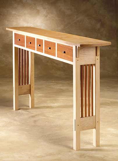 Prairie Sofa Table By Chris Horney (Wood Sofa / Hall Table) | Artful Home