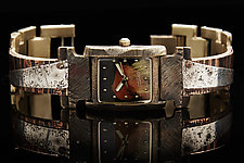 Two-Tone Silver and Copper Ladies Watch by Eduardo Milieris (Mixed-Media Watch)
