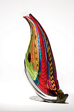 Quail Sculpture by Mike Wallace (Art Glass Sculpture)
