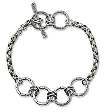 Four Circle Layer Bracelet by Jodi Brownstein (Silver Bracelet)
