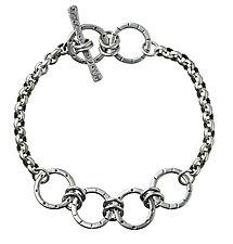 Four Circle Layer Bracelet by Jodi Brownstein (Silver Bracelet)