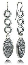 Mini Oscar Leaf Earrings by Jodi Brownstein (Silver & Stone Earrings)