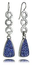 Mini Oscar Earrings with Triangle Drusy by Jodi Brownstein (Silver & Stone Earrings)
