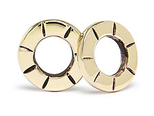 18k Gold Super Mini Stud Earrings by Jodi Brownstein (Gold Earrings)