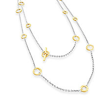 Mini Wrap Necklace in Mixed Metal by Jodi Brownstein (Gold & Silver Necklace)