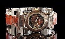 Copper Spiral Porthole by Eduardo Milieris (Copper Women's Watch)