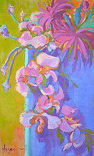 Orchid Fantasy by Dorothy Fagan (Oil Painting)