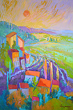 Lavender Sunset by Dorothy Fagan (Oil Painting)