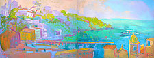 Passage Diptych by Dorothy Fagan (Oil Painting)