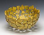 Marigold Wabi Sabi Vessel by Susan Madacsi (Metal Bowl)