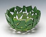 Grass Green Wabi Sabi Vessel by Susan Madacsi (Metal Bowl)