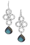 Chandy Earrings with Labradorite by Jodi Brownstein (Silver & Stone Earrings)