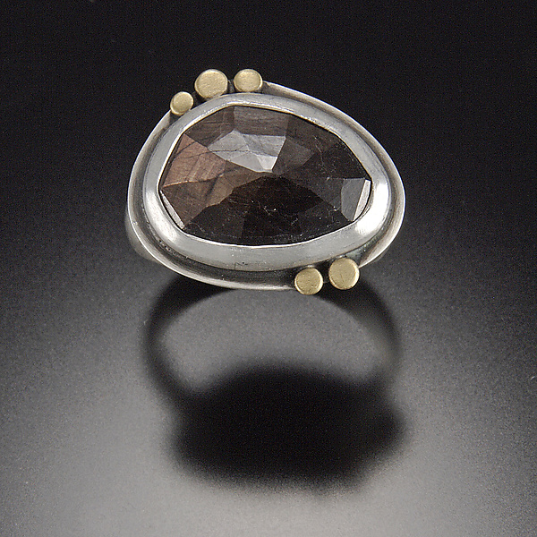 Rose Cut Chocolate Sapphire Ring