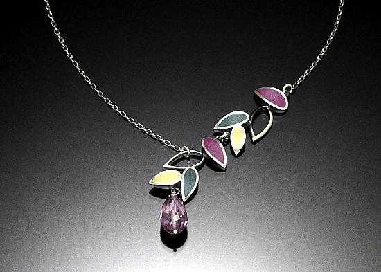 Falling Leaves Asymmetric Necklace