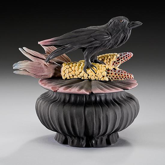 Crow And Corn Box By Nancy Y Adams Ceramic Box Artful